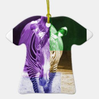 Rainbow Zebra Ceramic T-Shirt Decoration