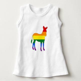 Rainbow Zebra Dress