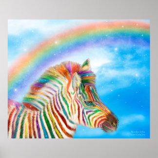 Rainbow Zebra Fine Art Poster/Print Poster