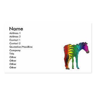 rainbow zebra pack of standard business cards