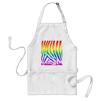 Rainbow Zebra Pattern Apron