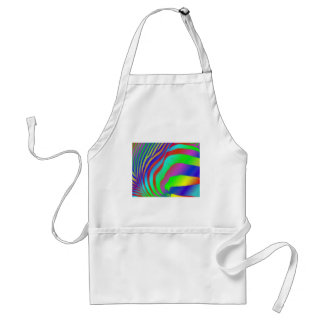 Rainbow Zebra Print Apron