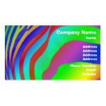 Rainbow Zebra Print Business Card Template