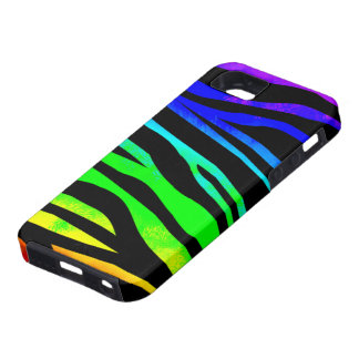 Rainbow Zebra Print iPhone 5 Covers