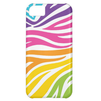 Rainbow Zebra Print iPhone 5C Case
