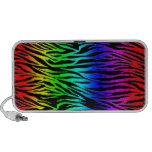 Rainbow Zebra Print Mp3 Speakers