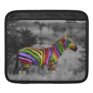 Rainbow Zebra Sleeve For iPads
