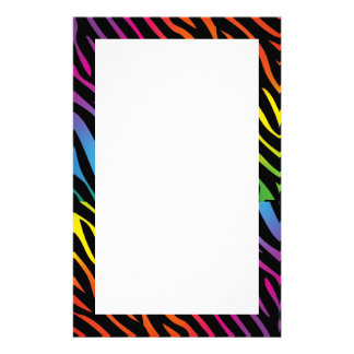 'Rainbow zebra' stationery