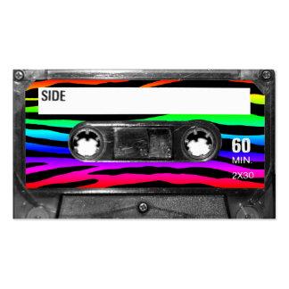 Rainbow Zebra Stripes Cassette Business Card Templates