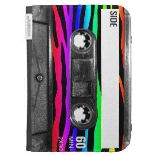 Rainbow Zebra Stripes Cassette Case For The Kindle