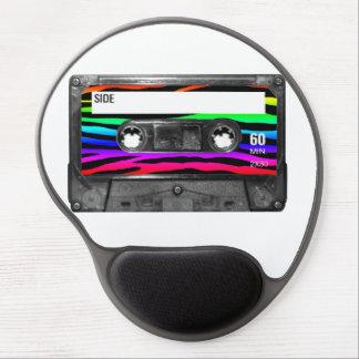 Rainbow Zebra Stripes Cassette Gel Mouse Pad