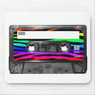 Rainbow Zebra Stripes Cassette Mouse Pad