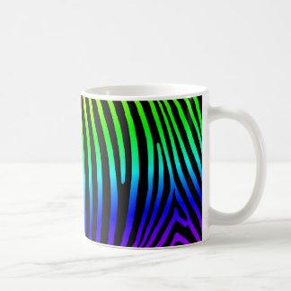 Rainbow Zebra Stripes Coffee Mug