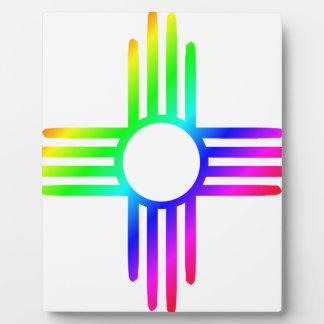 Rainbow Zia Plaque