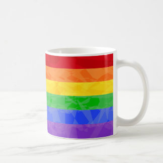 Rainbow Zig Zag Fractal Mug