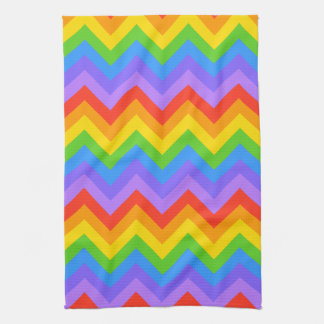 Rainbow Zig Zag Pattern. Hand Towels