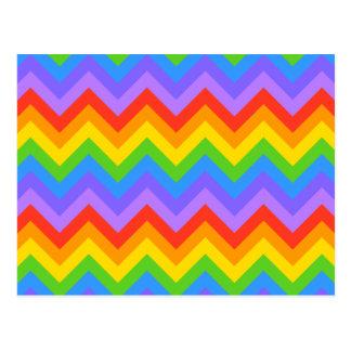 Rainbow Zig Zag Pattern. Postcard