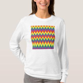 Rainbow Zig Zag Pattern T-Shirts