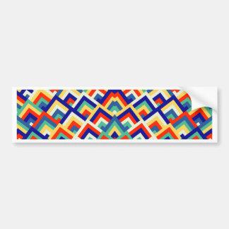 Rainbow Zigzag Symmetric Peeks Pattern Bumper Sticker