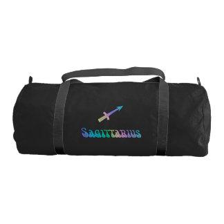 Rainbow Zodiac Sign Sagittarius Gym Duffel Bag