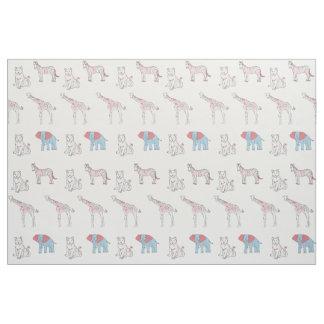 Rainbow Zoo patterned fabric