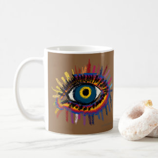 Rainboweye - dark skin coffee mug