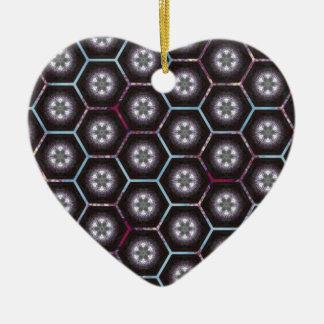 rainbowhex ceramic heart decoration