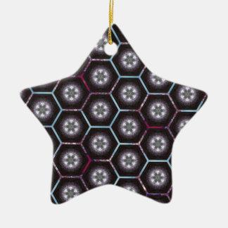 rainbowhex ceramic star decoration