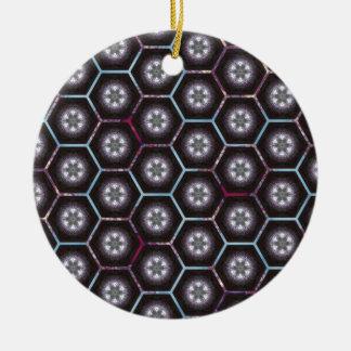 rainbowhex round ceramic decoration