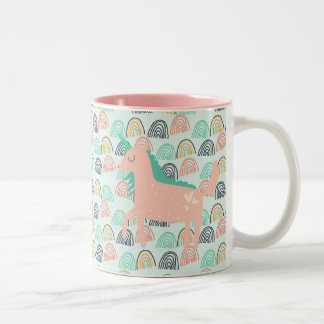 Rainbows and Unicorns Two-Tone Coffee Mug