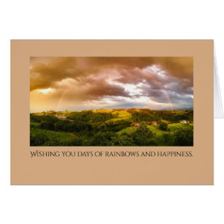 Rainbows and Wishes Beautiful Greeting Card