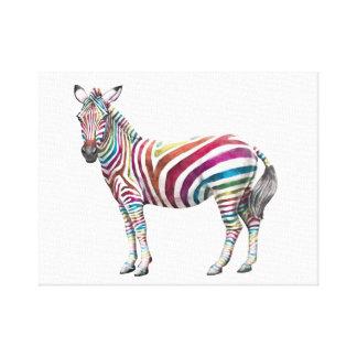Rainbows and Zebras Canvas Print