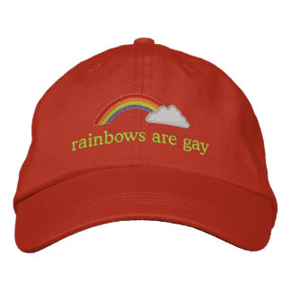 rainbows are gay embroidered baseball cap