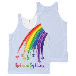 Rainbows are Sky Flowers All Over Tank