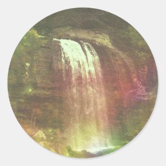 rainbows end round sticker