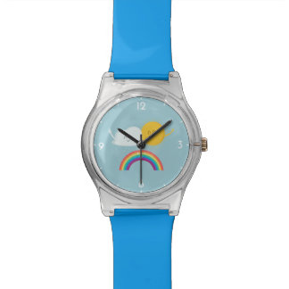 Rainbow's Family Cute Cartoon Kids' Wristwatch