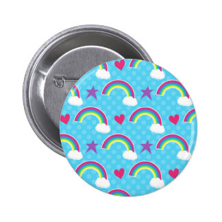Rainbows, Hearts & Stars 6 Cm Round Badge