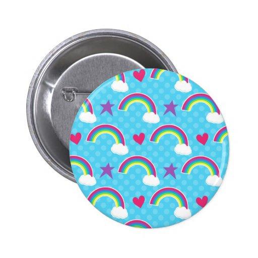 Rainbows, Hearts & Stars Buttons