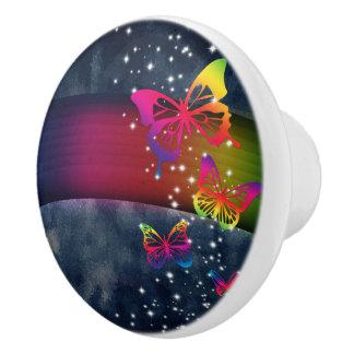 Rainbows n Butterflies Ceramic Knob