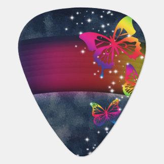 Rainbows n Butterflies Guitar Pick
