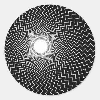 Rainbowtruth Live Hallucinations Optical Illusion Round Sticker
