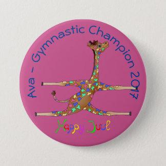 Rainbwo Gymnastics by The Happy Juul Company 7.5 Cm Round Badge