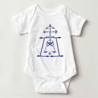 Raincross - Blue - Connie Lea Design Baby Bodysuit