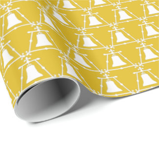 Raincross - Fleur Design - Mustard Yellow Wrapping Wrapping Paper