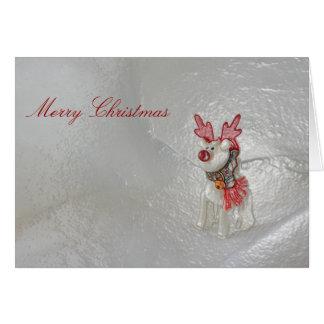 Raindeer Christmas Greeting Card