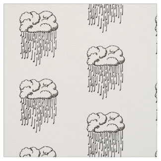 Raindrop prelude (musical notes raining) fabric