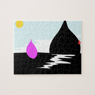 Raindrop Sunset Jigsaw Puzzle