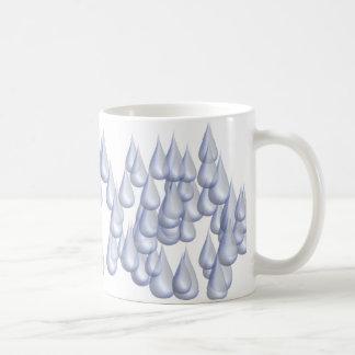 Raindrops (3D) Coffee Mug