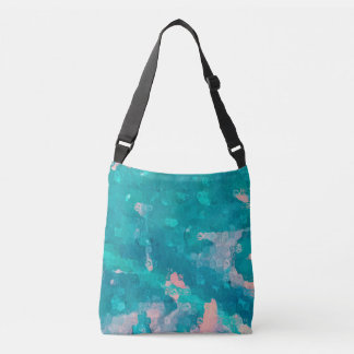Raindrops Abstract Crossbody Bag