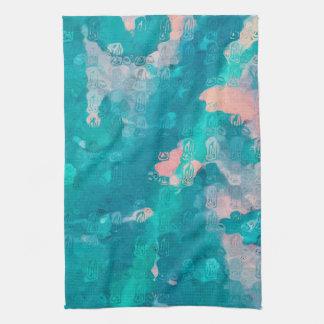 Raindrops Abstract Tea Towel